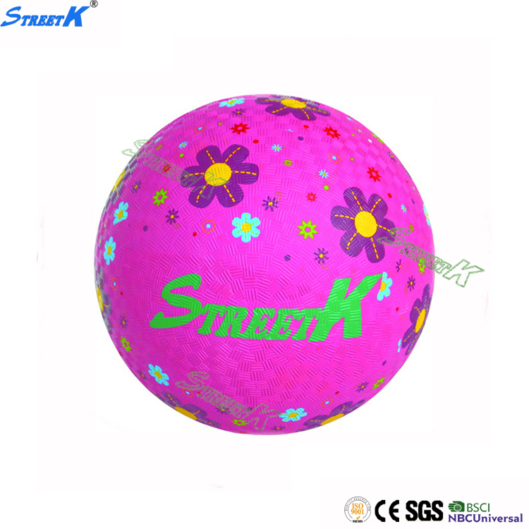 STREETK brand high quality soft touch high bouncy custom colorful inflatable rubber playground ball