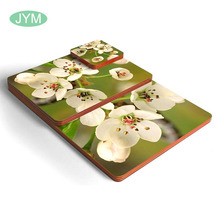 Cup mat custom sublimation MDF cork coaster with paper coated