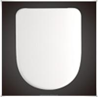 CL-040 Round/ Enlongated PP / Plastic Toilet seat cover, Soft Slow Close White Toilet seat