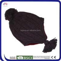 2014 hand making and machine knitted kids winter hat