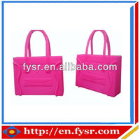 new design women handbag jelly candy color silicone bag