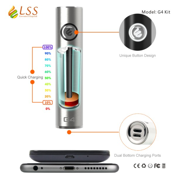 battery for electronic cigarette 1600mAh LSS G4 kit mechanical ecig mods ego variable voltage battery