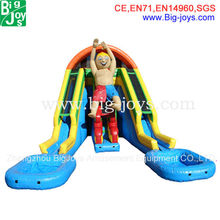 2016 new design kids and adults interesting backyard inflatable water slide