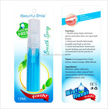 Teeth whitening accelerator spray/ teeth whitening mouth spray/ OEM Breath Freshener mouth spray