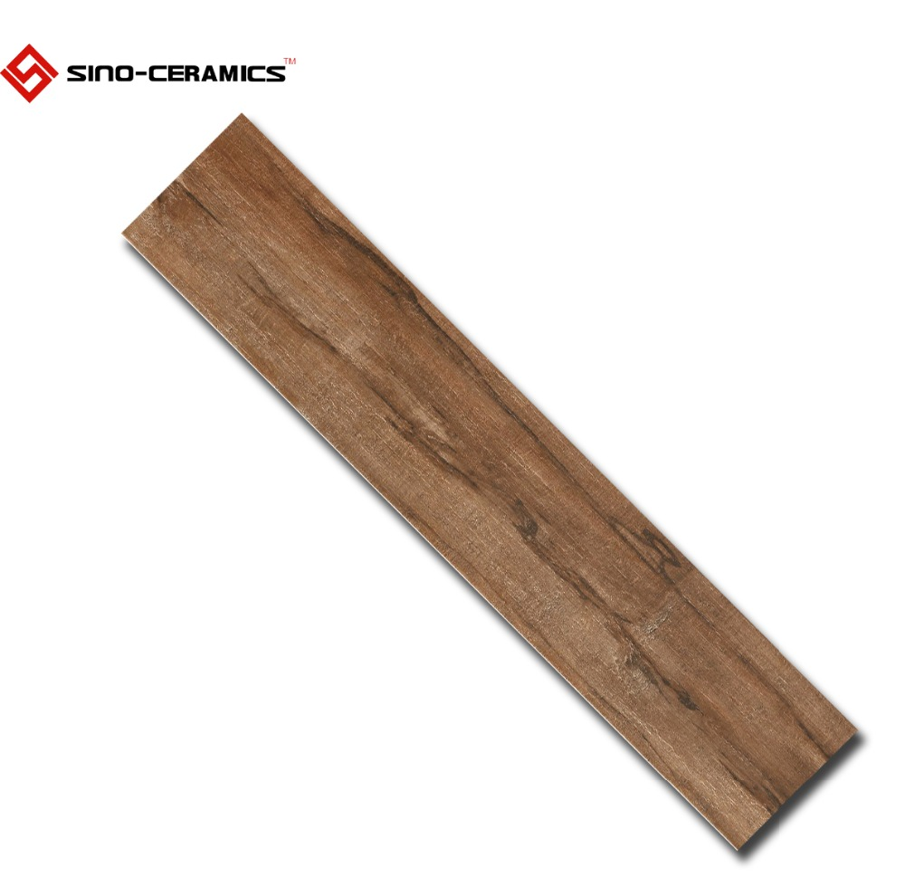Brown color wood look pisos ceramica in 200x1000mm, ceramic tiles that looks like wood