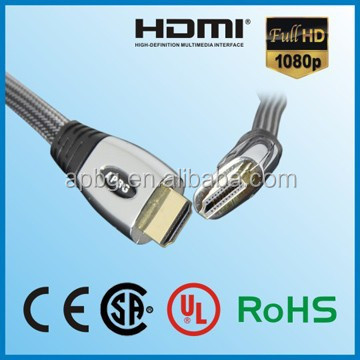 OEM HDMI cable,full metal casing HDMI cableprinted with Customer logoes.