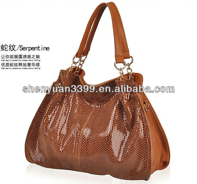 Most Popular European fashion style leather Shiny Hobo Bag for Woman