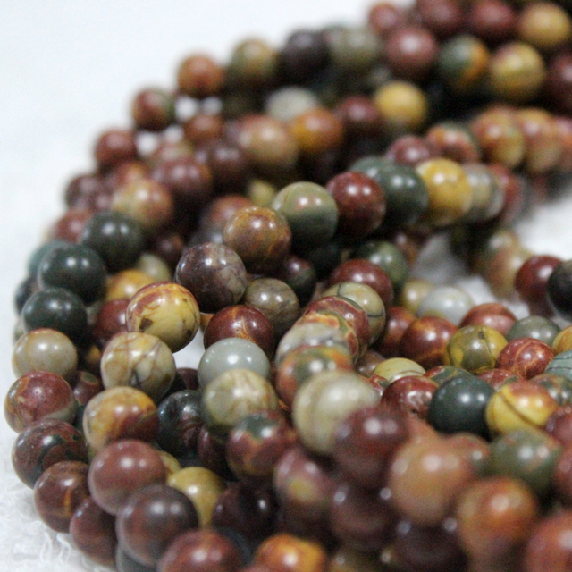 China wholesale loose gemstone,8mm Picasso jasper stone beads