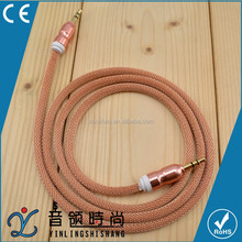 Wholesale High Speed Charger Mini USB Audio 3.5mm Cable , High Quality Car Aux Cable For Car Audio
