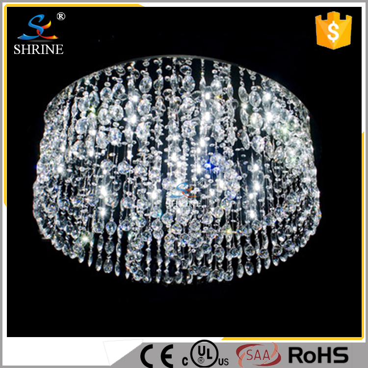 Modern Crystal Bright Chain Crystal Ceiling Lamp
