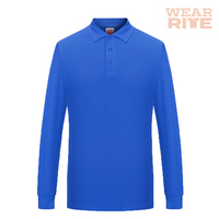 cotton polyester Long Sleeve Golf Polo t Shirts for Men