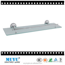 Wholesale single tier bathroom glass shelf, zinc corner shelf price