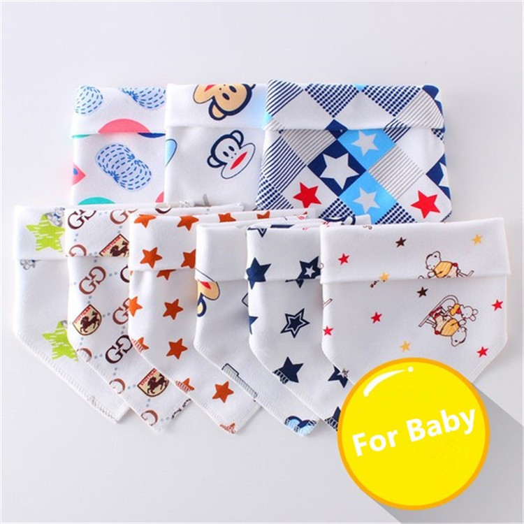 Multifunctional Triangle Pure Cotton Unisex Baby Bandana Bibs
