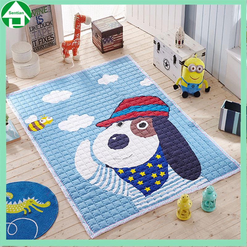 Cartoon animal baby play gym crawling mat