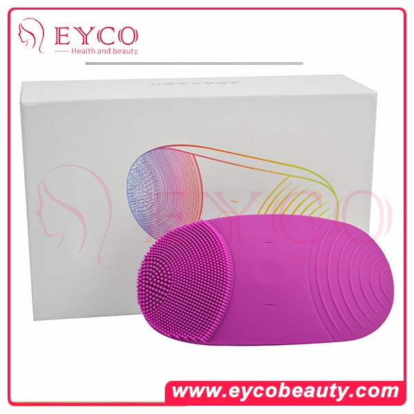 Electric Rechargeable Waterproof Silicone Facial Oil Cleansing Brush Massager