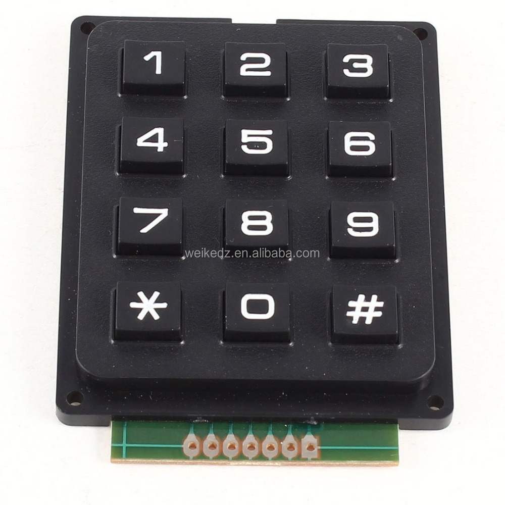 4 X 3 Matrix Keyboard Keypad Module with 12 Keys 4 *3 Plastic Keys Switch for Ardu Controller