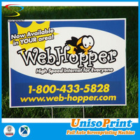 screen printing coroplast/corflute plastic sign custom yard sign