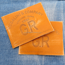 Clothing brand leather label, jeans leather patch,garment leather tags