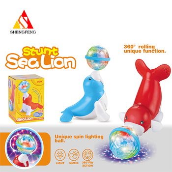 Stunt sealion battery operated toys electric musical toys