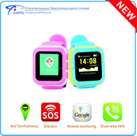 gps watch phone for kids with dual way talk, GPS&WIFI&LBS positioning,SOS