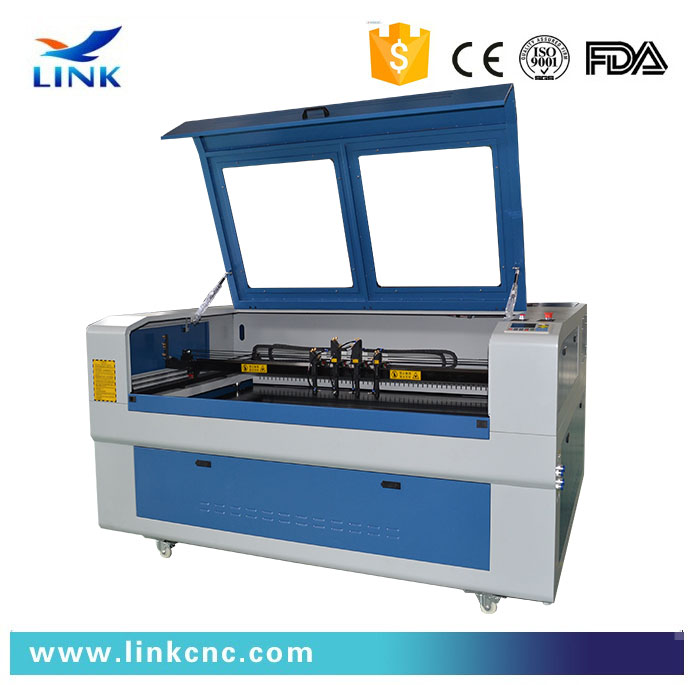 1610 four heads seperately moving laser engraving machine/laser cutting machine wood