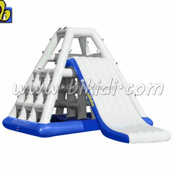 Water park giant inflatable floating water slide for Adult games D3040
