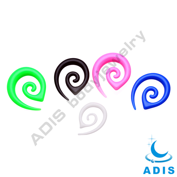 Hot Sell Colorful Wholesale Custom Acrylic Ear Spiral Strecher