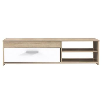 Meuble Tv 120 Cm Chene Blanc Brillant Buy Tv Stand Meuble Tv Product On Alibaba Com