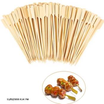 Natural Bamboo Paddle Sticks Skewers