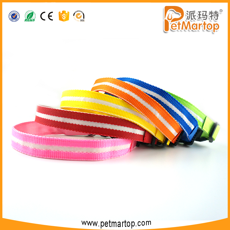 Hot Dogs Clothes and Accessories LED Flashing Usb Rechargeable Dog Collar TZ-PET6100U