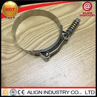 titanium t-bolt clamps 165-173mm t bolts hose clamps swivel pipe clamp zhaoxiang