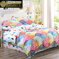 double bed linen set,bright color comforter sets,custom pattern printed bed linen