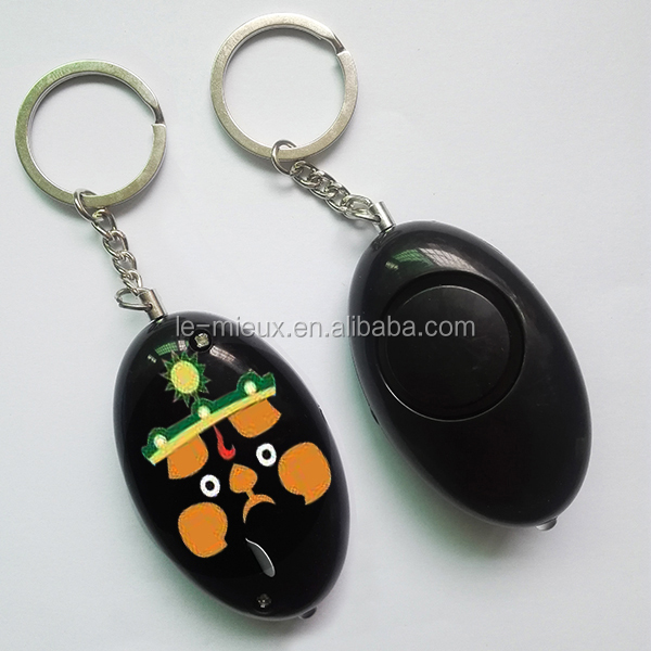 Halloween Gift Children Girls Christmas Gift Against Evil Against Riot Protective Egg Shaped Keychain Alarm