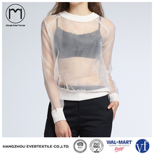 OEM Services Women Organza Cropped Tops