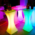 Nightclub Furniture Square LED Light up Cocktail Table illuminated Bar Table