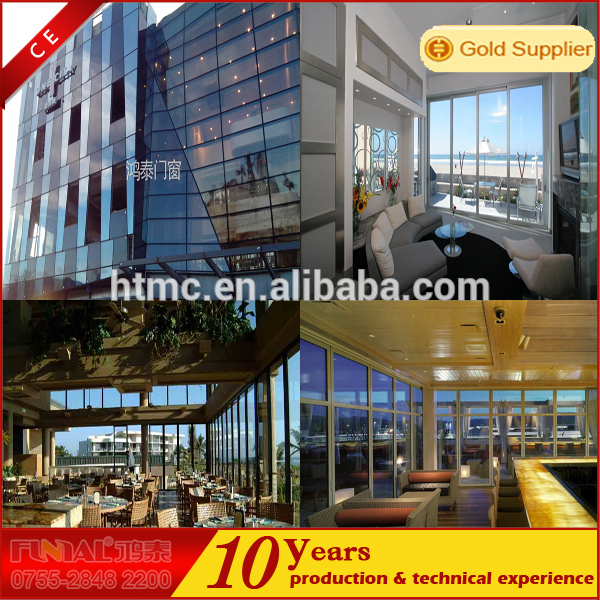 Aluminum frame sliding glass window and door, door and window tempered glass
