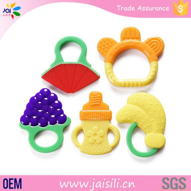 new products customized logo eco-friendly safe baby teether christmas ornaments