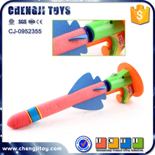 Cheaper shooting air pump rocket toys