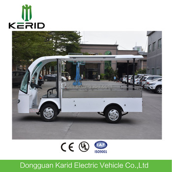 Fiberglass Body 4 Wheel Chinese Electric Cart Mini Truck Cargo For Sale