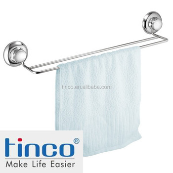 vacuum suction cup stainless steel bathroom hardware towel bar