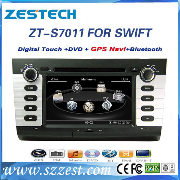 for suzuki swift car dvd gps navigation system with BT/Phonebook/SWC/USB