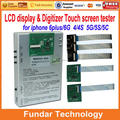 For iPhone 4g 4s 5 5s 5c 6 6Plus LCD Tester Machine 7 in 1 LCD and Touch Screen Metal Testing Frame dhl free