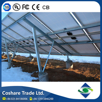 Coshare Reliable Quality Super High Load solar pv ground mounting