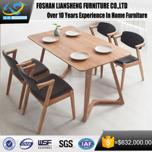 2016 latest design modern simple dinner table solid wood dinning table for home&restaurant used