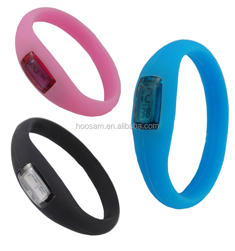 Hot sale ion silicone watch Colorful digital silicone fashion watch