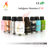 2015 Best Seller US Design Unicig Authentic Indulgence Mutation X V4 rda