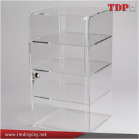 countertop lockable acrylic jewelry display showcase
