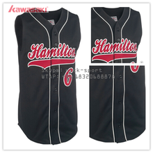 USA sizes authentic sports sleeveless baseball jersey black
