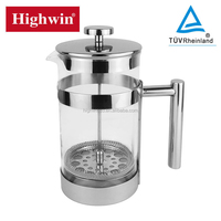 Amazon NEW PRODUCT Stainless Steel Borosilicate Glass Coffee Press
