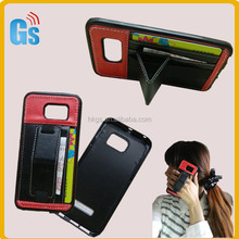 Leather Tpu Protective Grip Case Cover Pouch With Stand Hand Grip For Samsung Galaxy S6 Edge Phone Holder